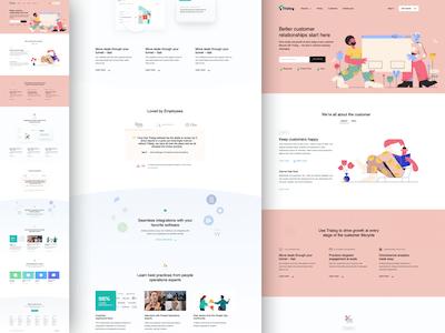 插画风网站界面、设计师个站UI界面、sketch源文件下载
