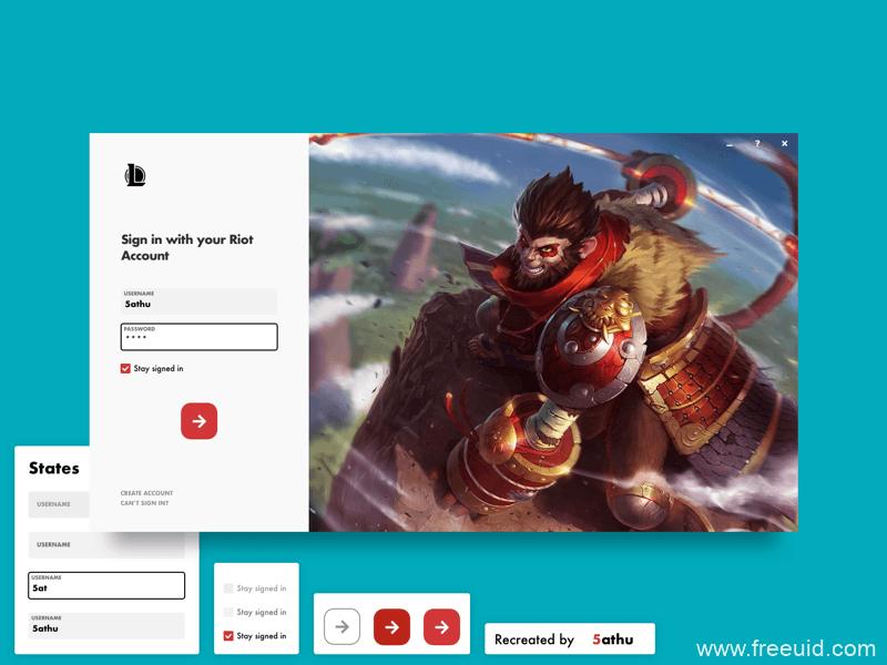 游戏登录UI界面sketch源文件免费下载