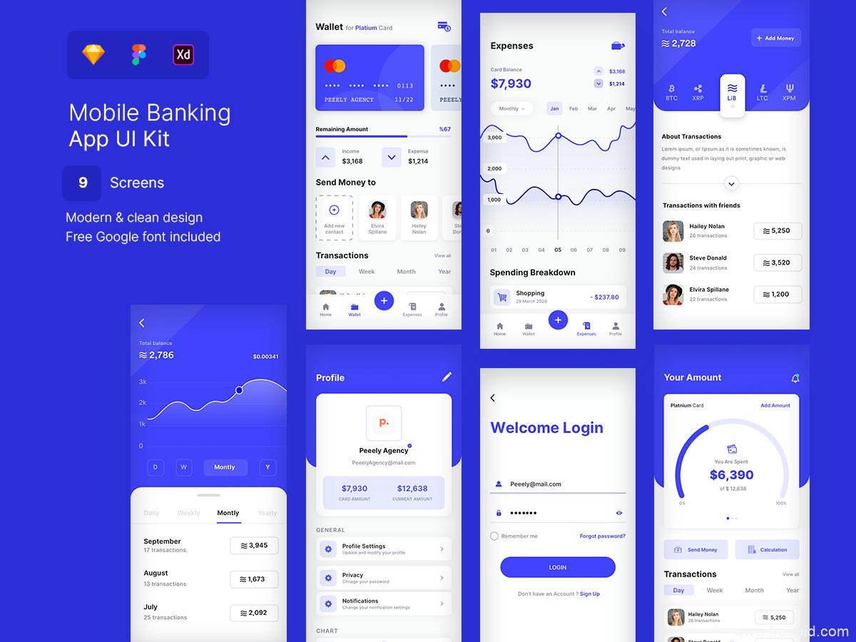 一套银行金融app UI源文件,金融APP UI素材sketch源文件下