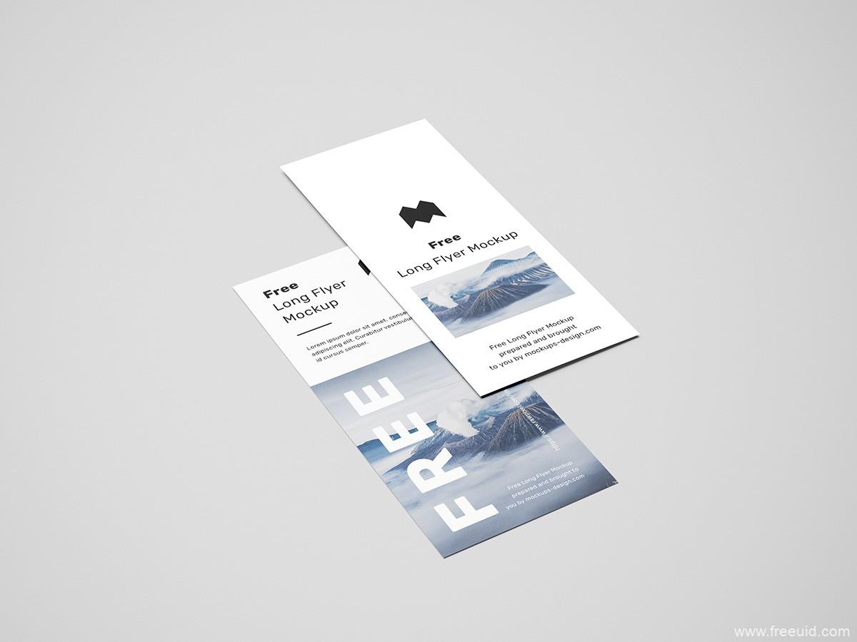 书签、竖版画册样机模板psd源文件下载