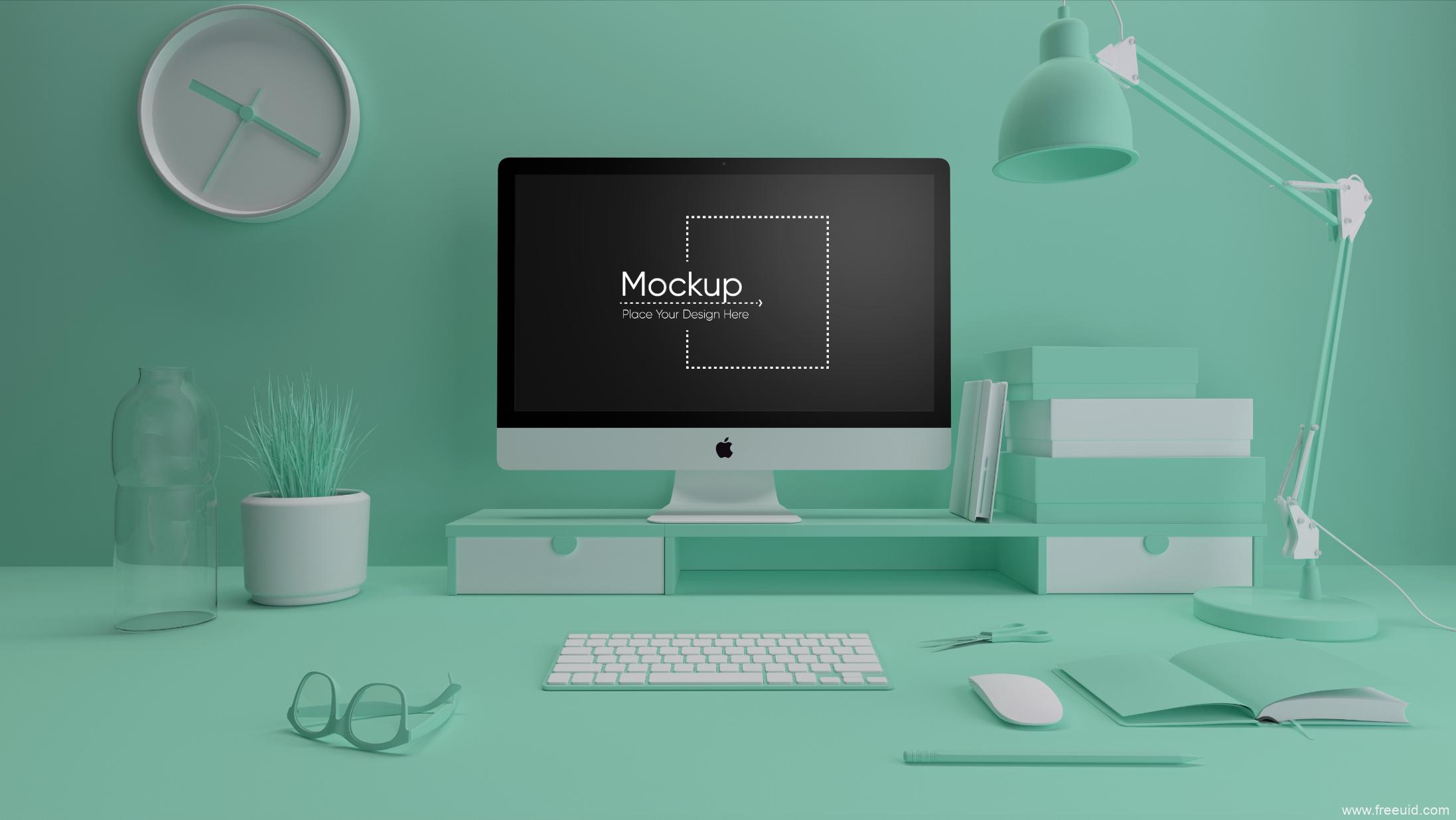 高端单体Mac展示样机psd源文件下载