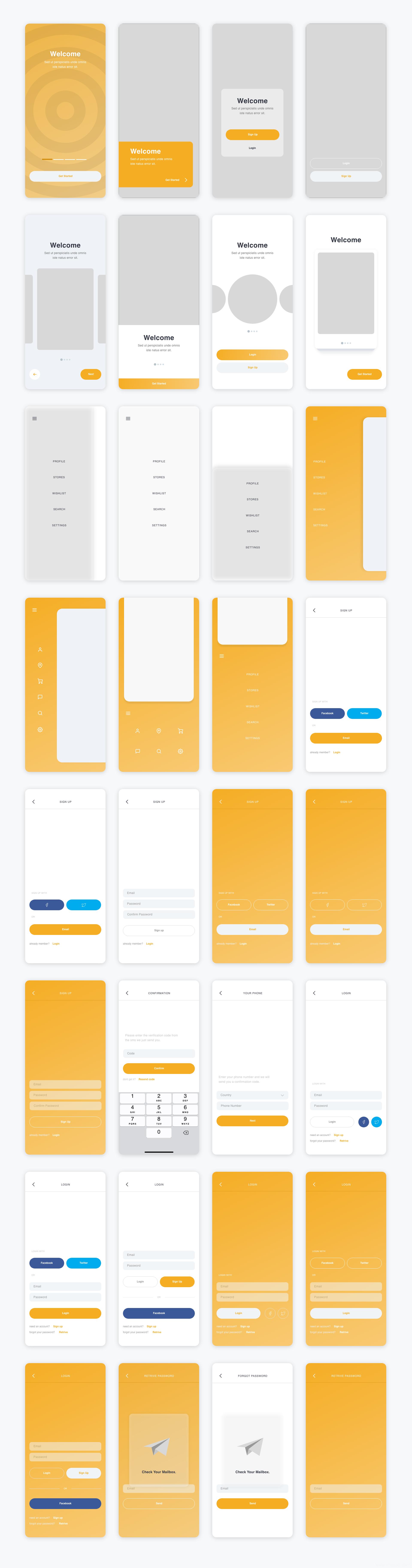 一套优秀的电商app UI素材下载,电商APP UI源文件,电商APP sketch、xd源文件UI资源