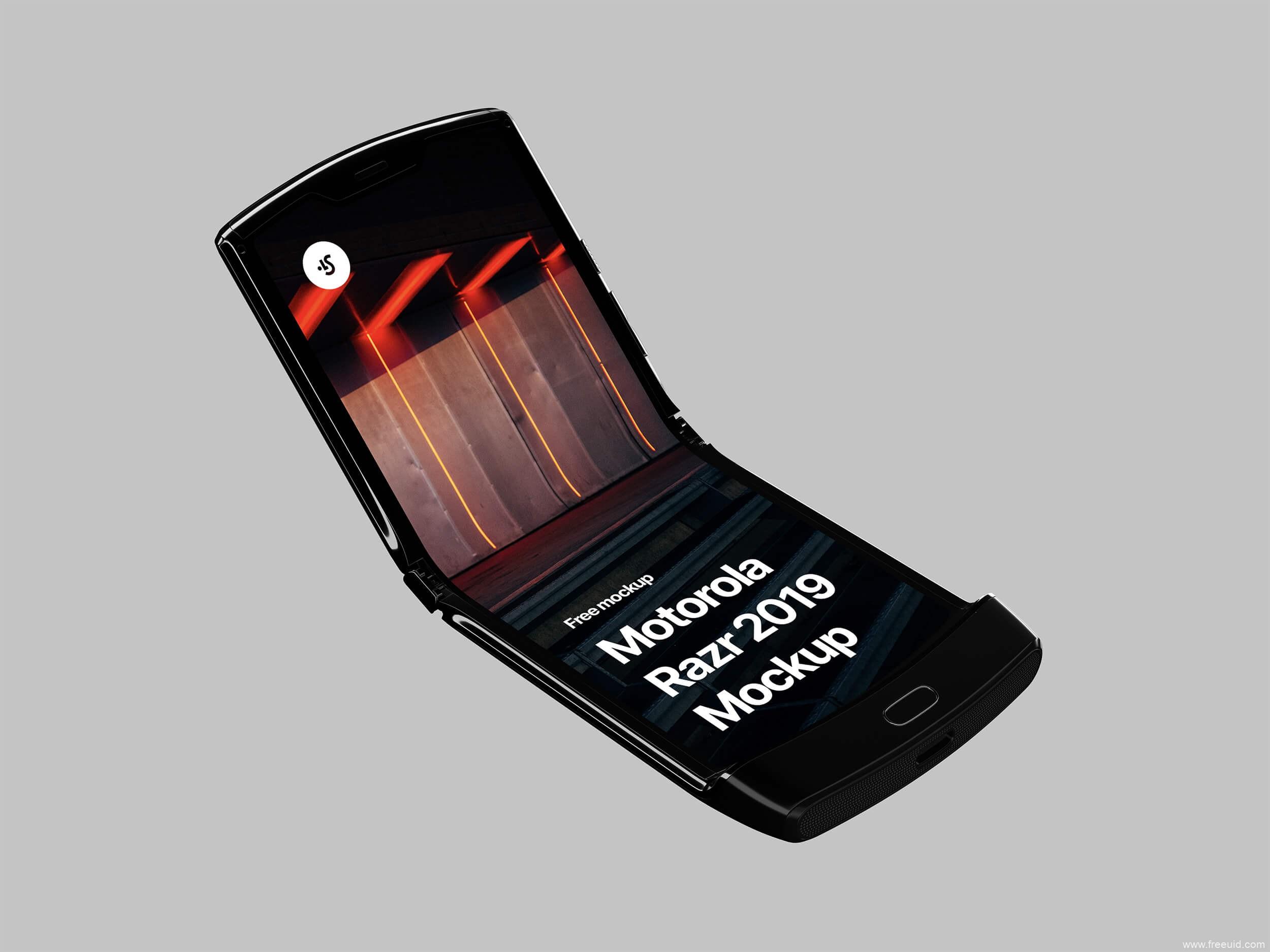 摩托罗拉Razr折叠屏手机样机mockup模板psd源文件