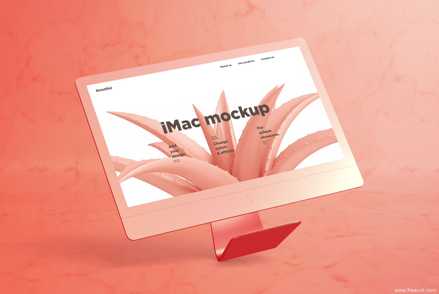 i Mac mockup样机展示模板psd源文件下载