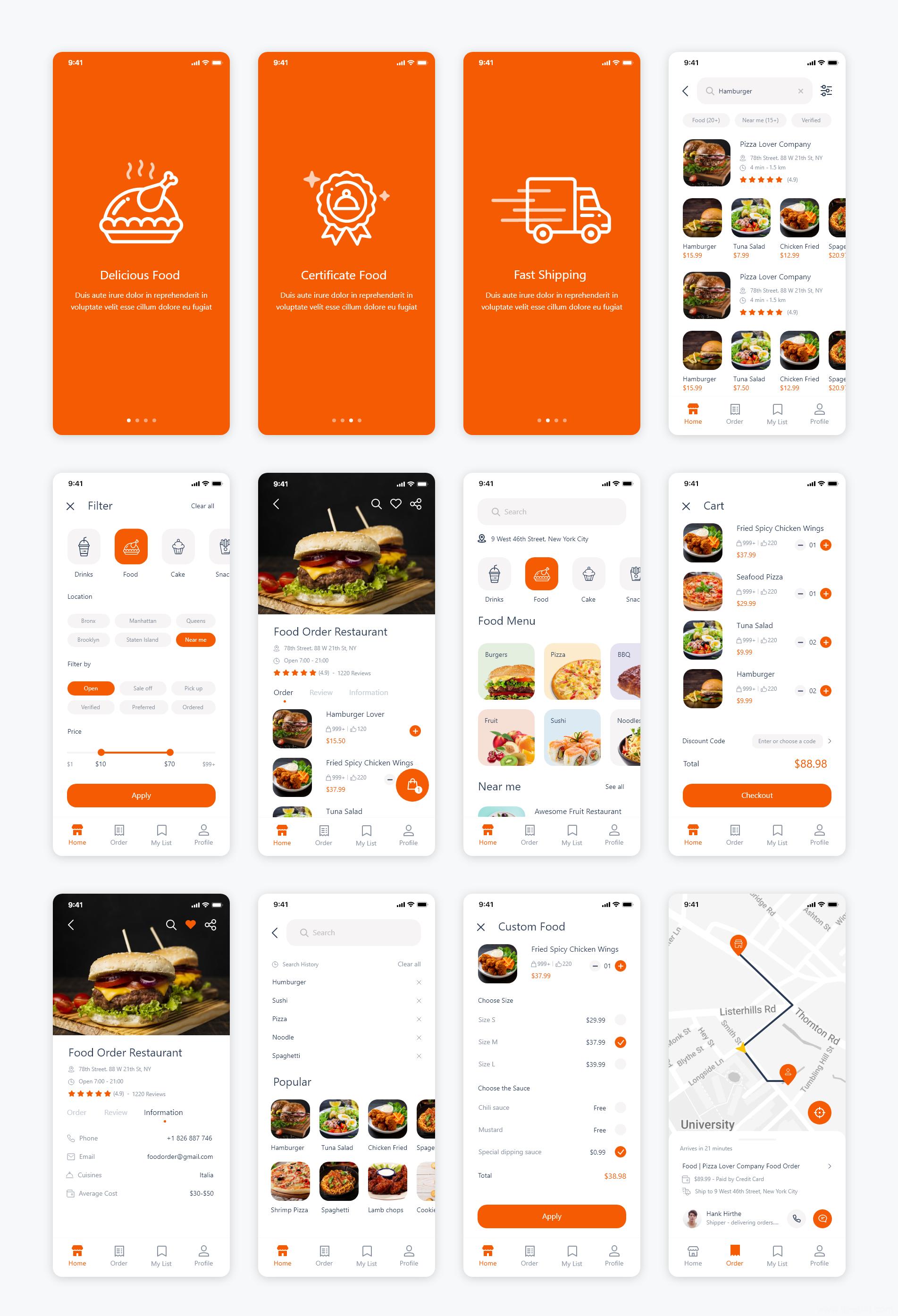 最新美食外卖APP UI源文件下载,美食外卖UI素材下载,美食外卖xd、sketch、figma源文件下载