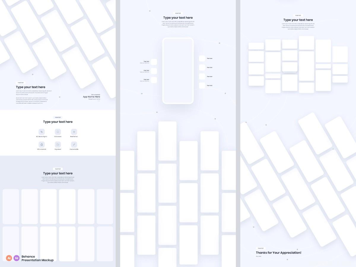 UI长图包装模板源文件,UI设计长图包装样机模板-2