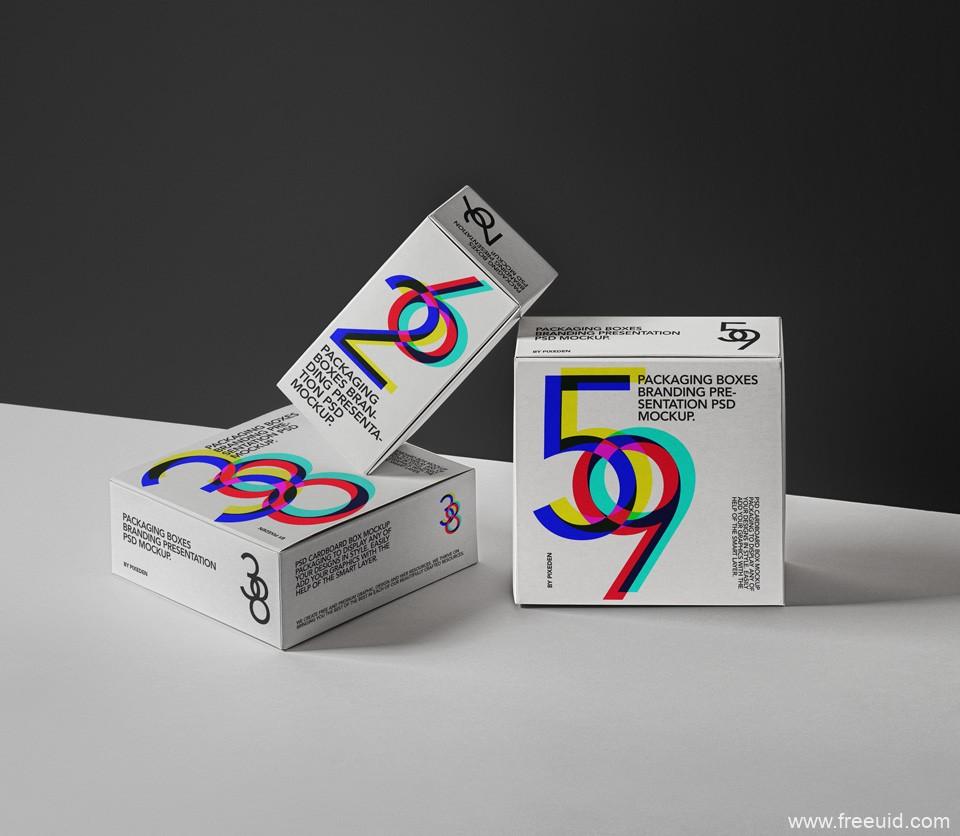 包装盒品牌展示样机模板psd源文件下载