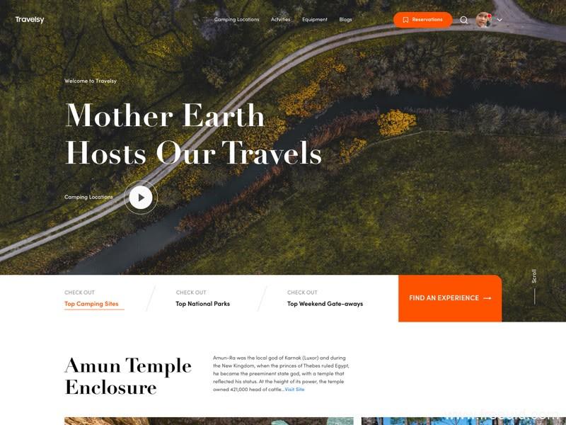全套高端旅行、酒店住宿Web UI网页设计sketch源文件下载