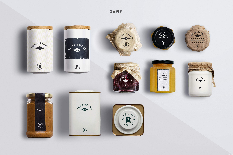 餐饮-酱料包装瓶、包装盒样机展示psd源文件下载