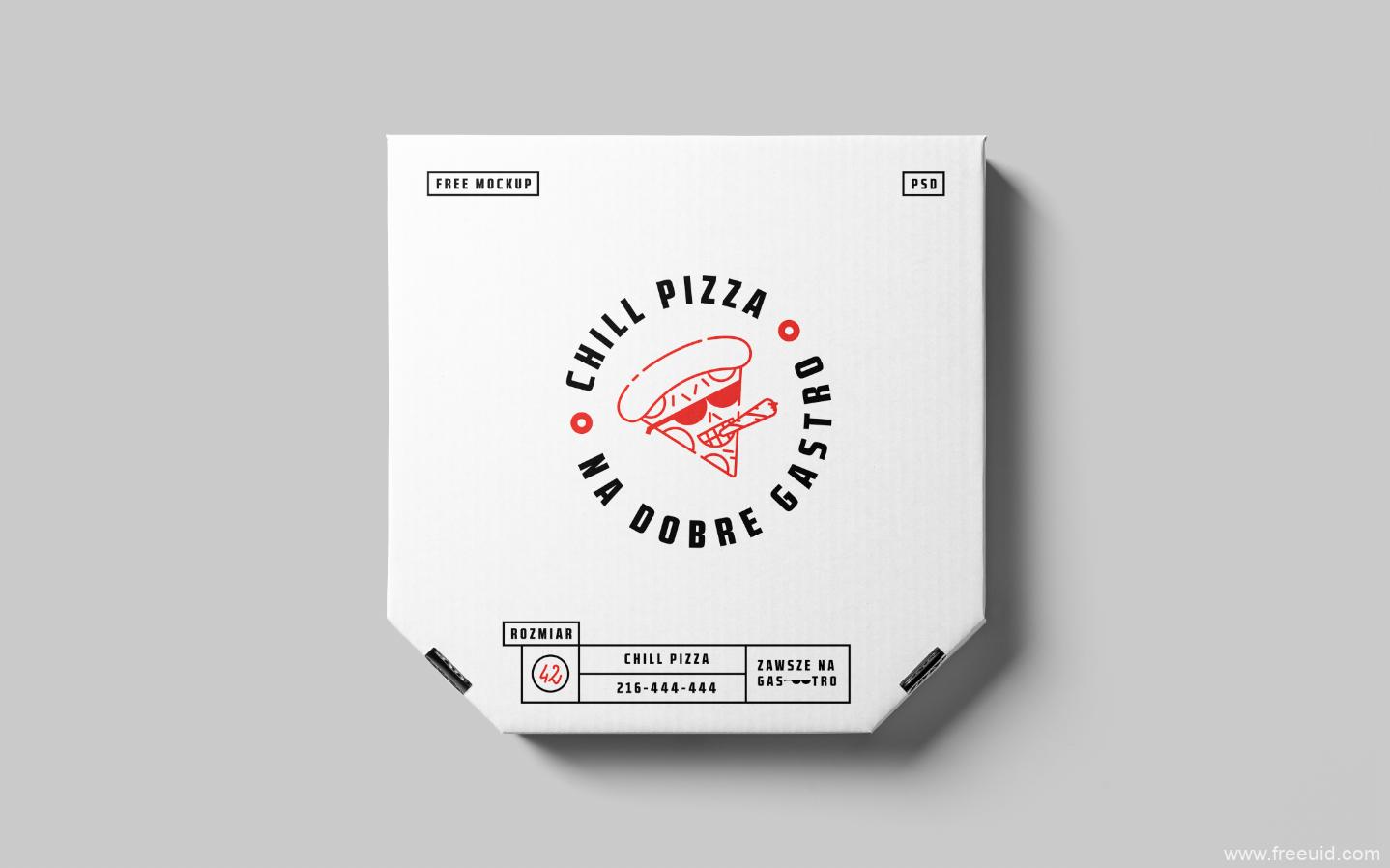 Pizza包装盒样机展示模板psd源文件下载