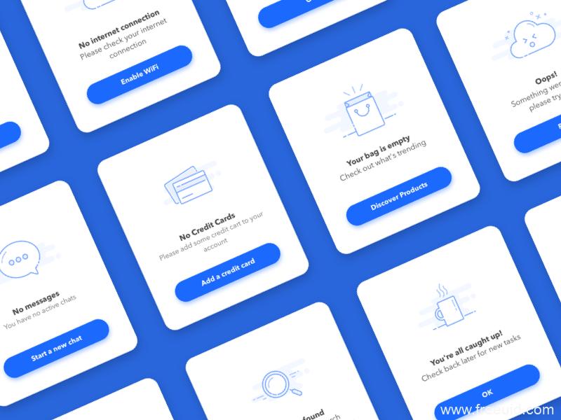 12款空状态icon展示UI图标sketch源文件下载