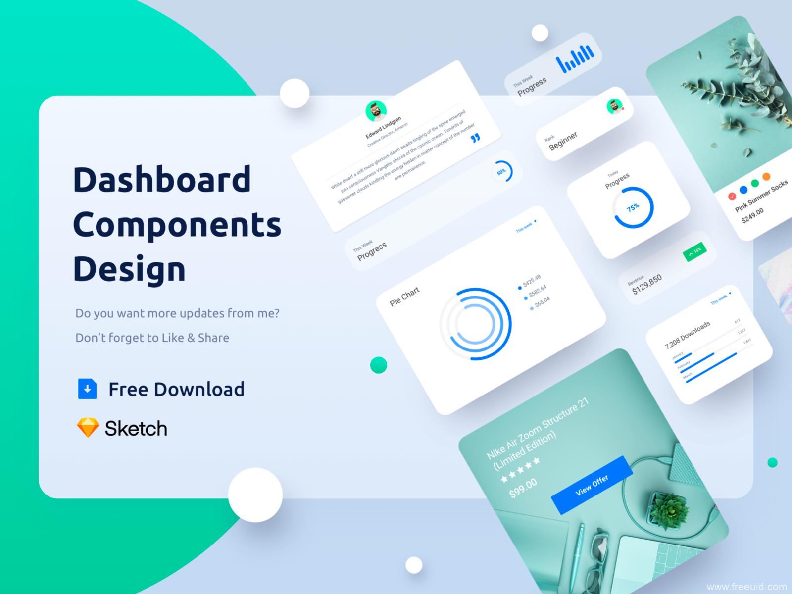 后台Dashboard UI组件下载,Dashboard UI资源下载,DashboardUI 源文件下载,sketch源文件下载