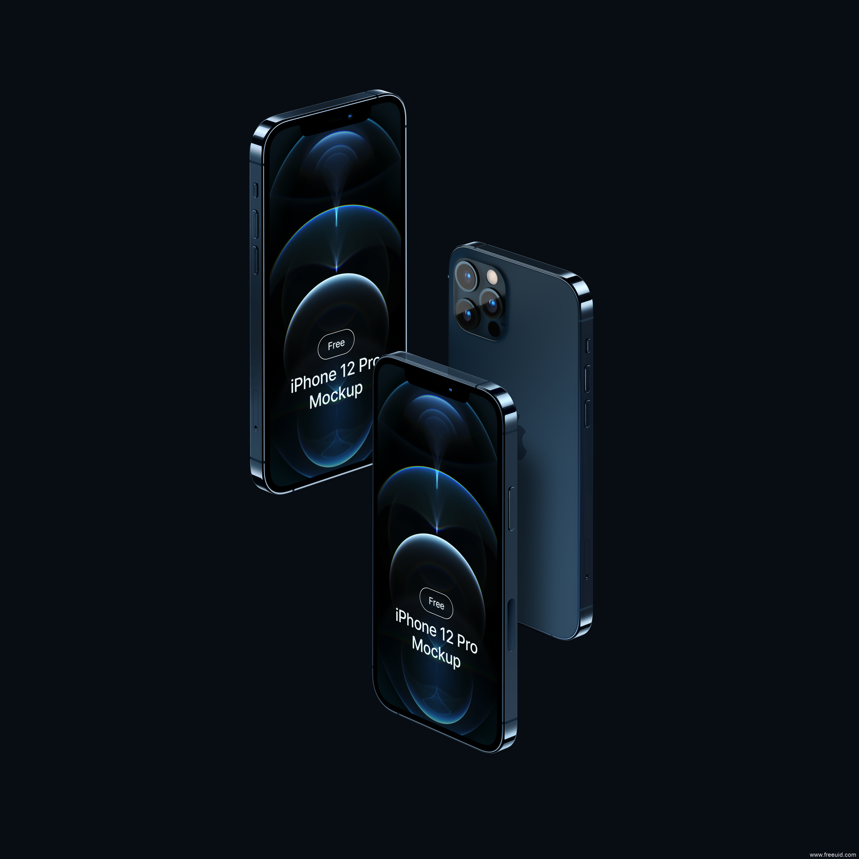 iPhone12 样机模板figma源文件下载,iPhone12 mockup立体展示模板
