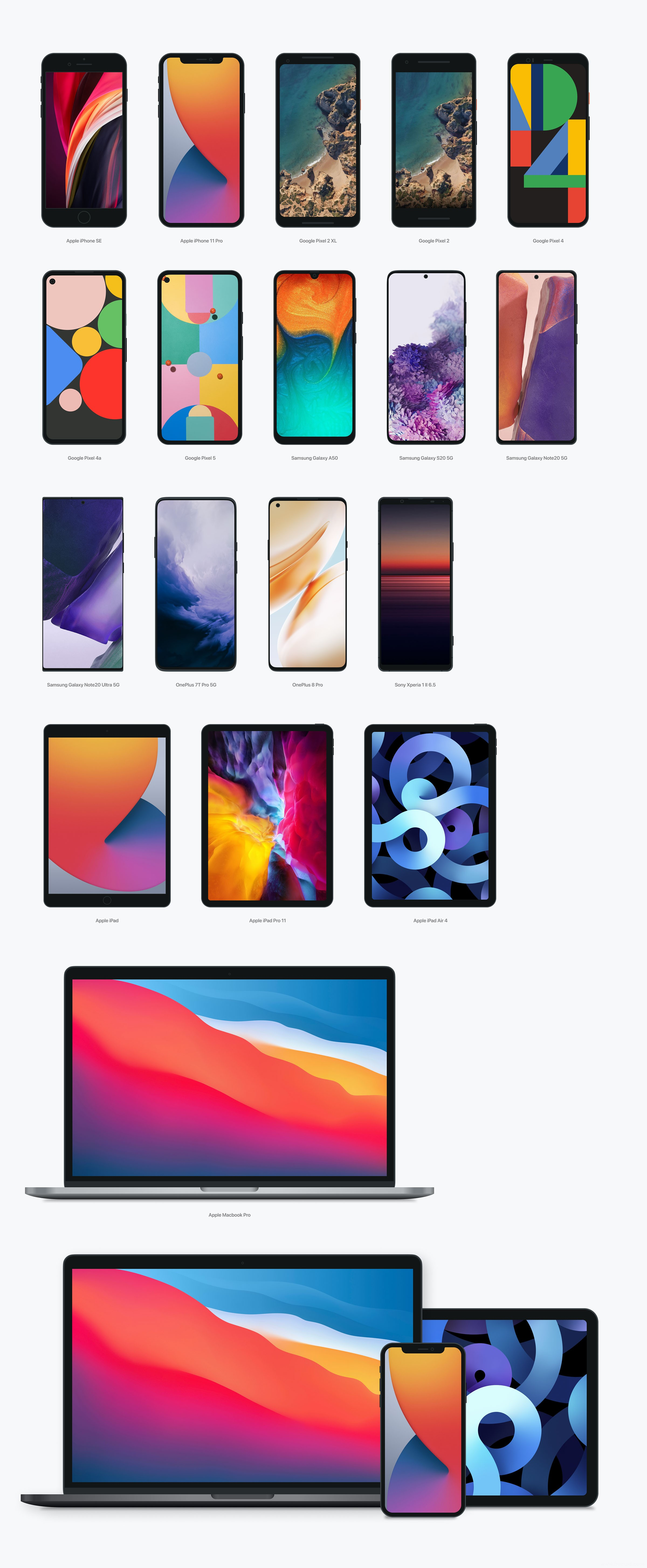 超全手机mockup样机模板,iPhone样机,google手机样机,电脑样机模板
