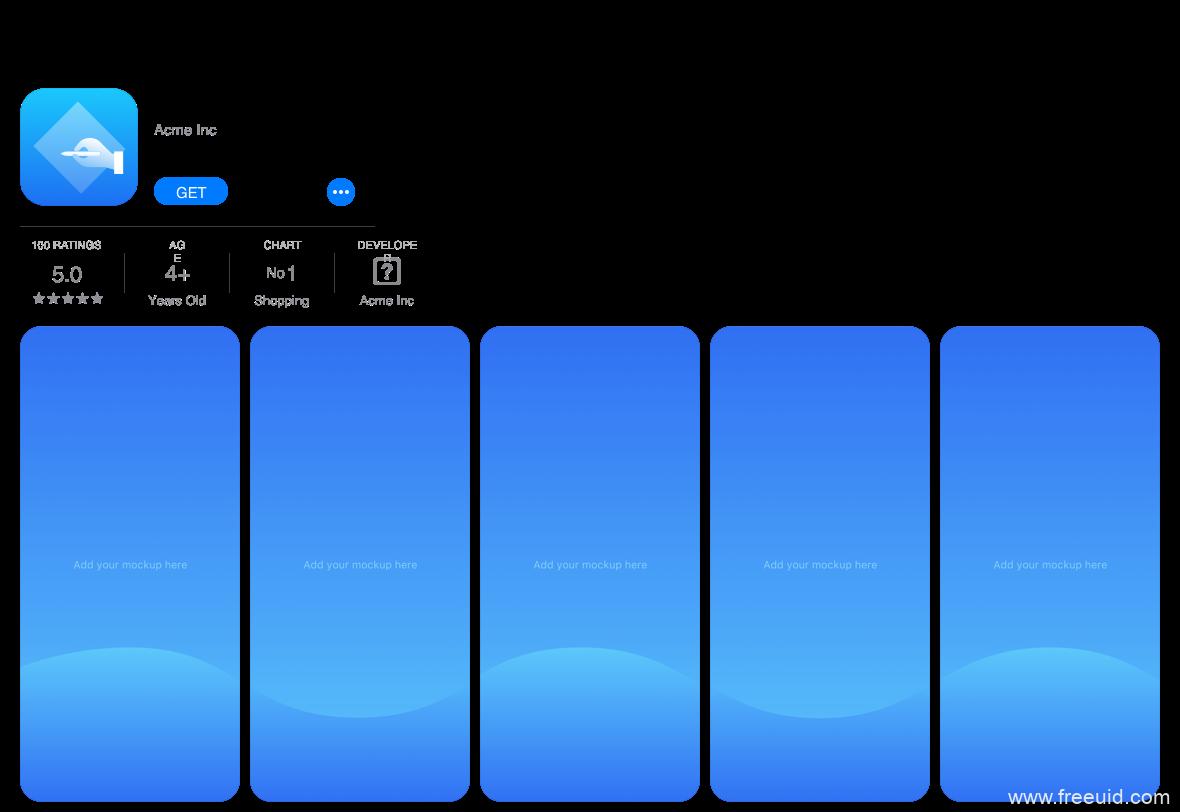 iOS14图标模板,iOS14 UI图标模板,AppStore运营模板源文件下载