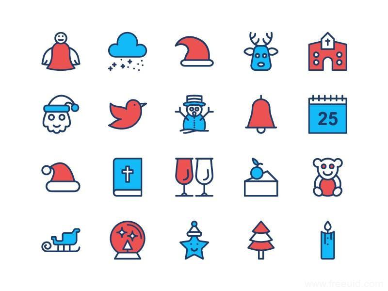 圣诞节,圣诞风图标ICON矢量源文件下载,圣诞节图标ai源文件下载