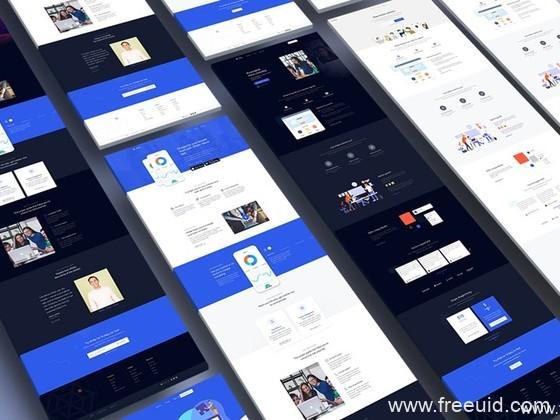 多套网页设计模板,企业官网UI资源下载,个人作品集展示网页UI模板,着陆页sktch源文件下载