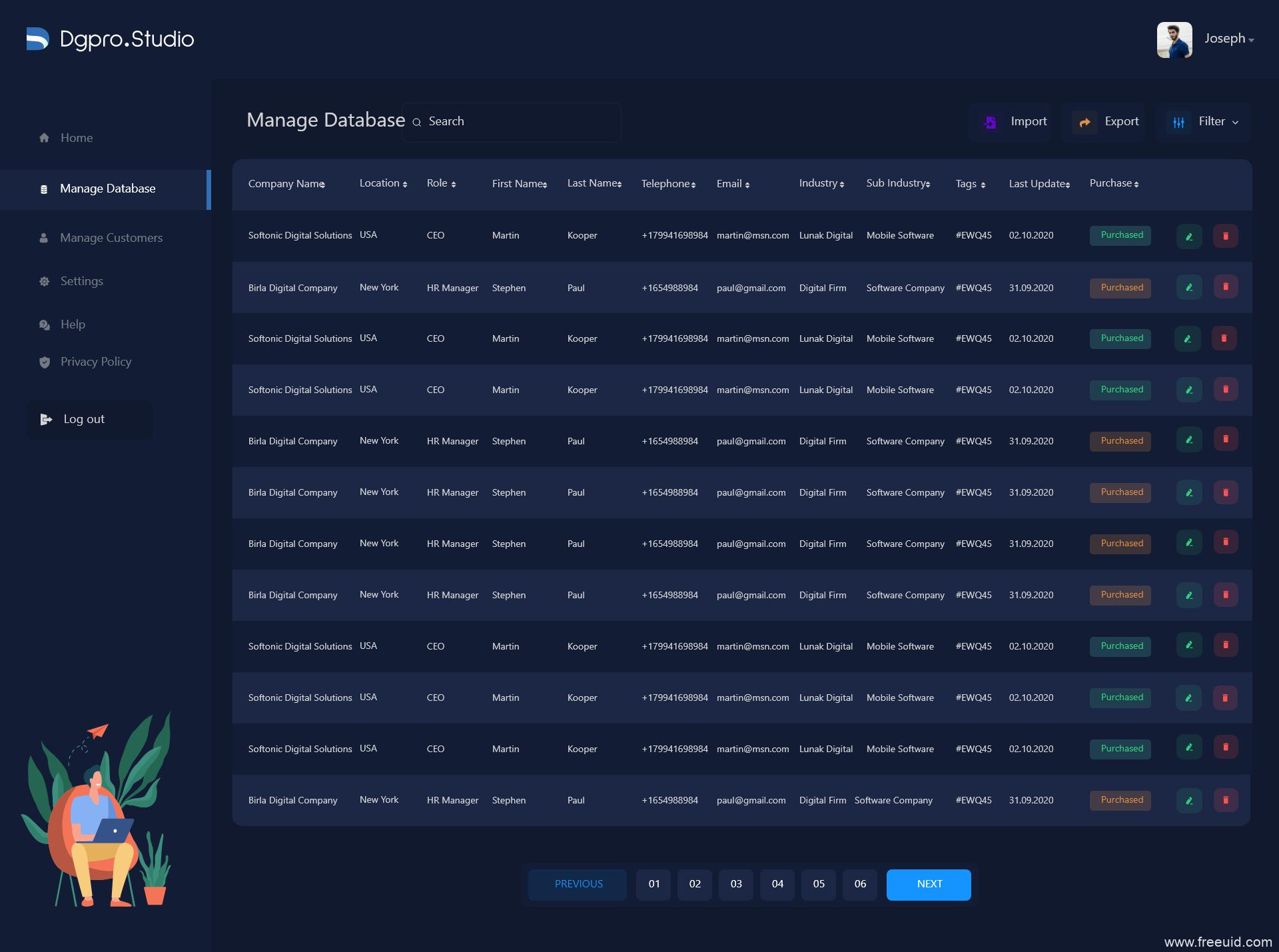 深色toB后台dashboard模板下载,暗色模式后台UI,B端UI源文件下载,B端后台管理UI资源xd源文件