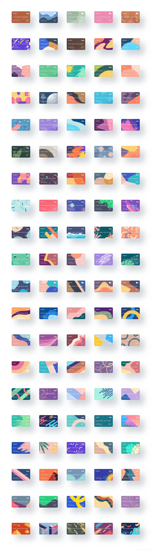 100个银行卡、会员卡,卡片样式UI源文件下载,银行卡UI资源sketch源文件下载