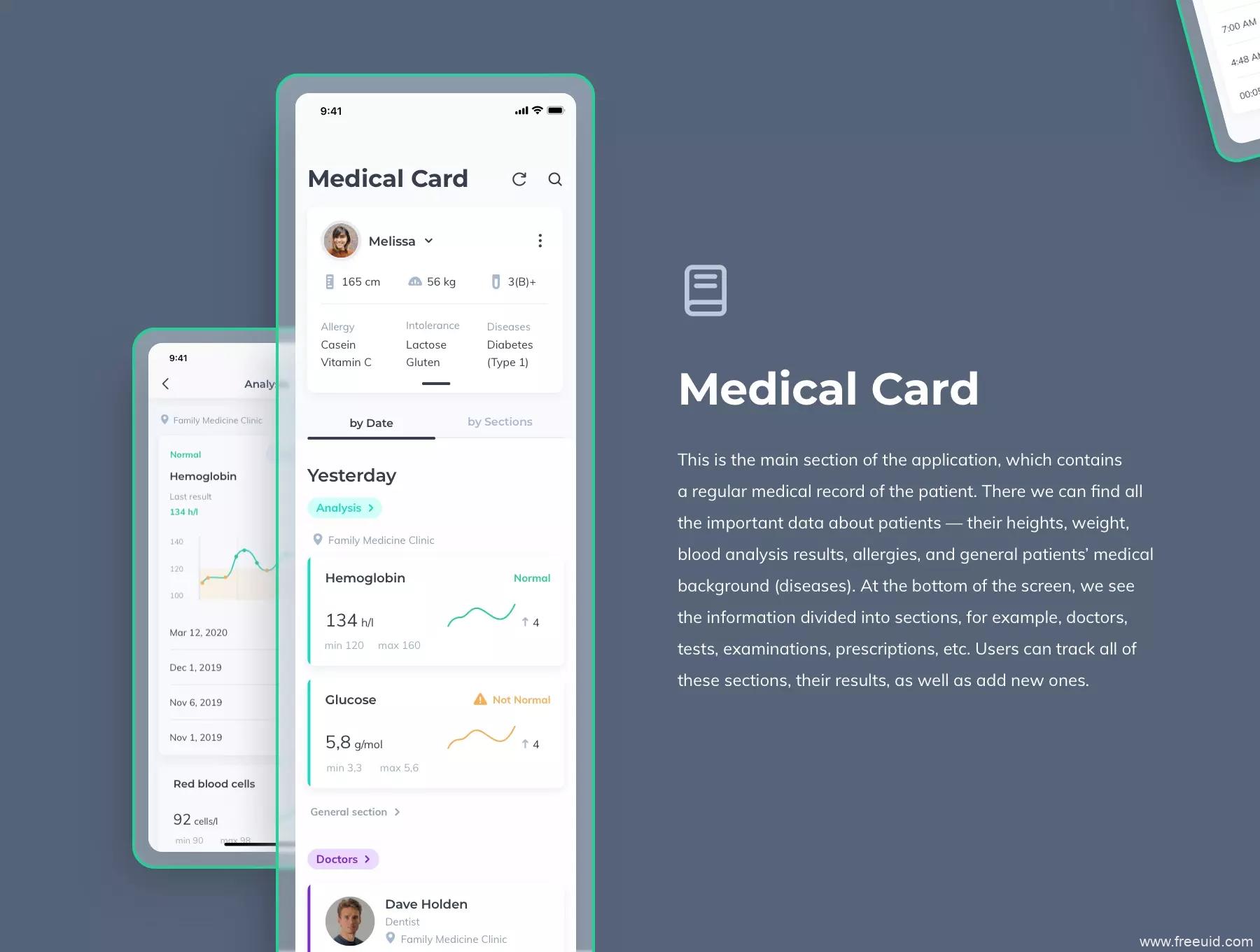 一套简约清新风格医疗app UI界面设计源文件,医疗健康UI源文件下载,医疗检测UI资源figma源文件、sketch源文件下载