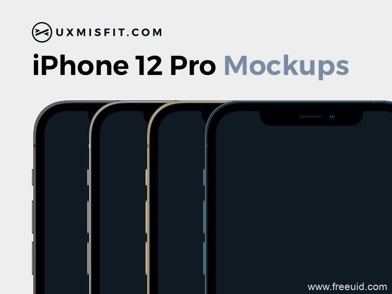 iPhone 12 Mockups Sketch 样机模板sketch源文件免费下载