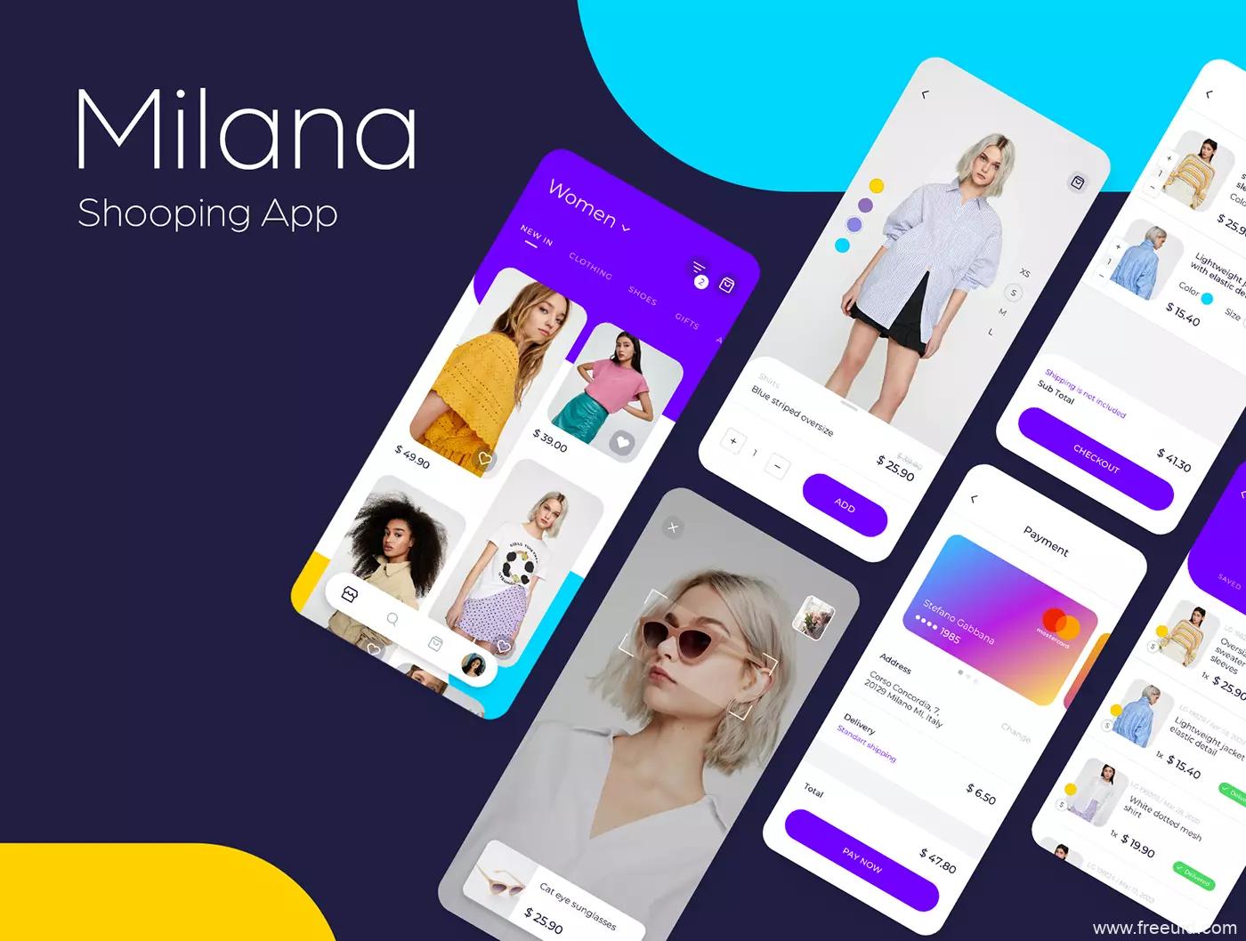 一套简约时尚女装电商app UI源文件,时尚电商App UI资源下载,时装电商APP UI素材源文件,sketch、figma源文件