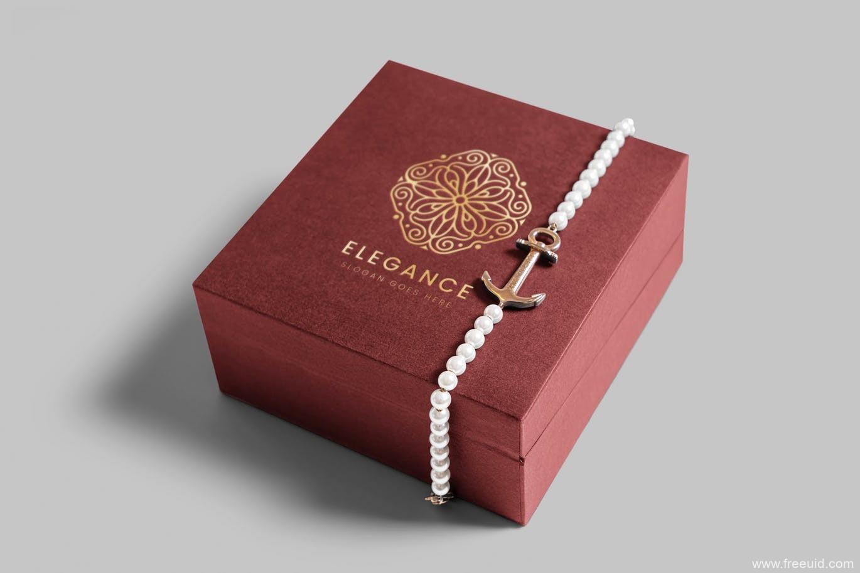 奢侈品首饰包装盒样机源文件,珠宝包装盒mockup样机psd源文件