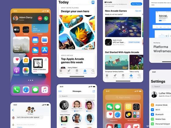 最新iOS 14全套UI kit组件UI设计资源下载,iOS 14 UI套件figma源文件下载