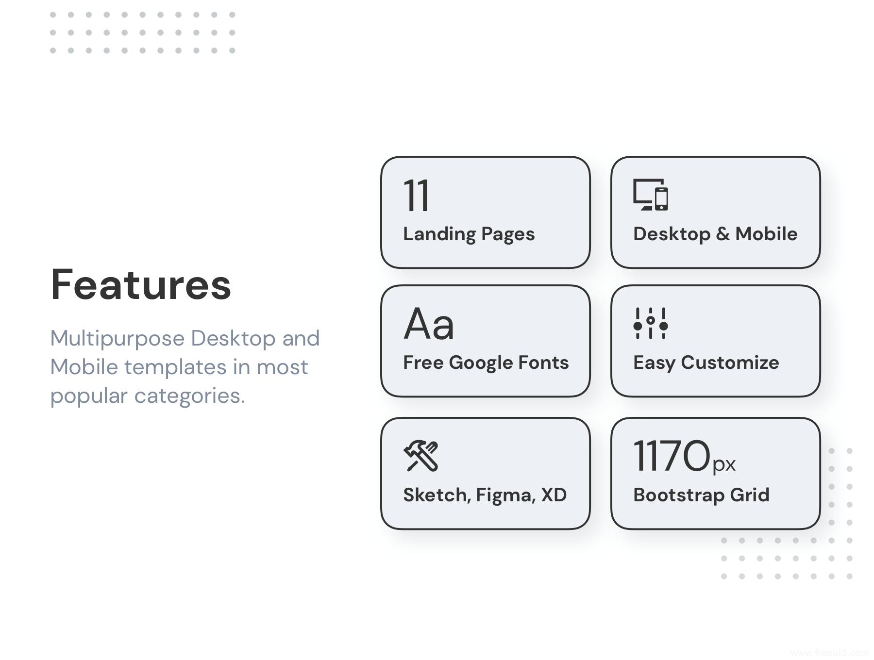 最新流行着陆页网页设计UI模板下载,作品集排版UI源文件下载 Sketch,XD,fig源文件