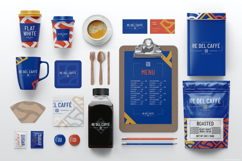 饮料品牌包装样机mockup模板,咖啡品牌样机包装mockup psd源文件,饮品样机包装模板