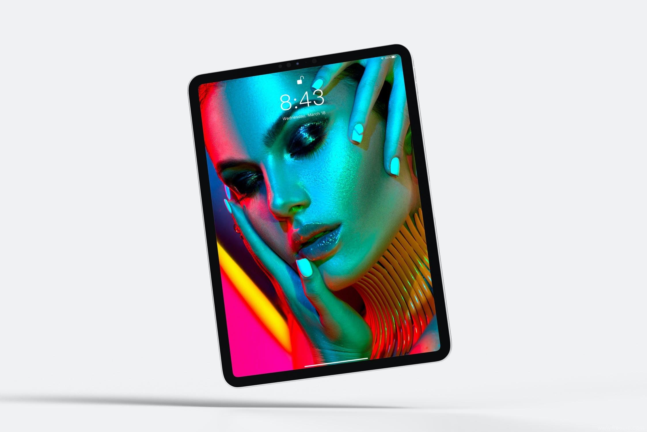 2020年最新多角度超全iPad Pro样机模板psd源文件,作品集包装iPad样机模板下载