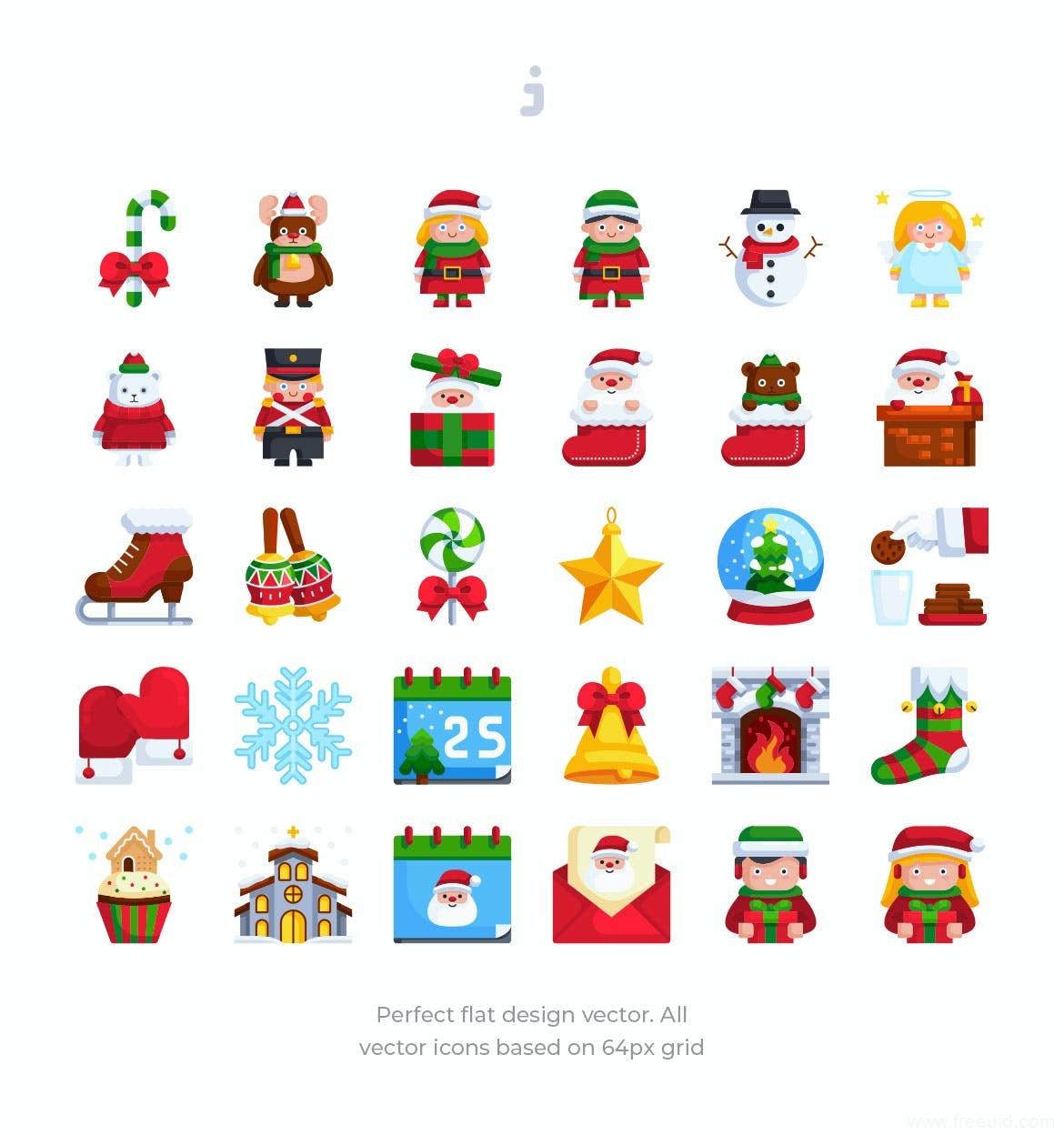 Christmas圣诞节元素图标icon源文件,圣诞节运营设计元素ai源文件下载