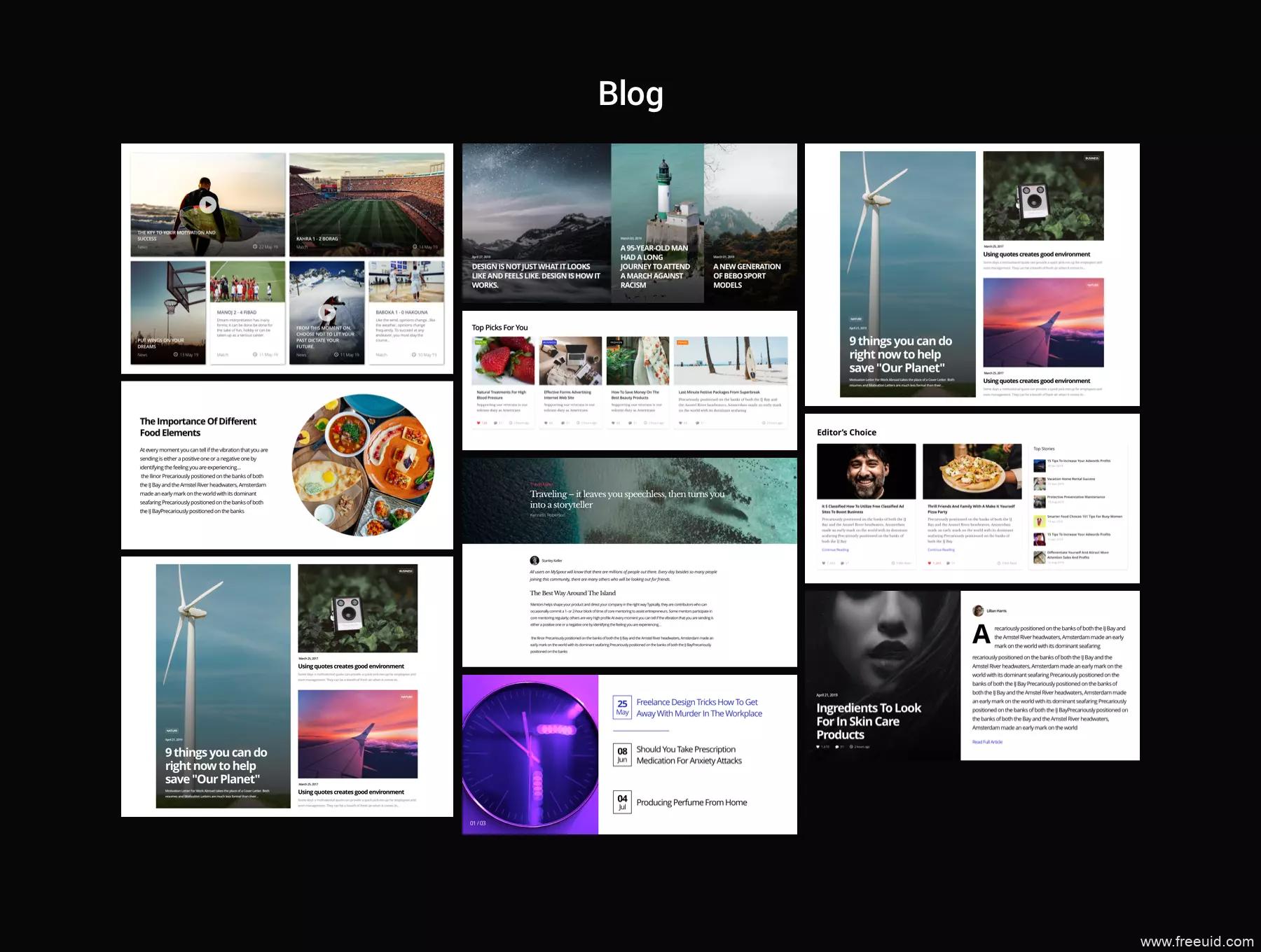 炫酷的设计师个人网站UI源文件,设计作品集封面sketch源文件,大气品牌官网UI sketch源文件下载
