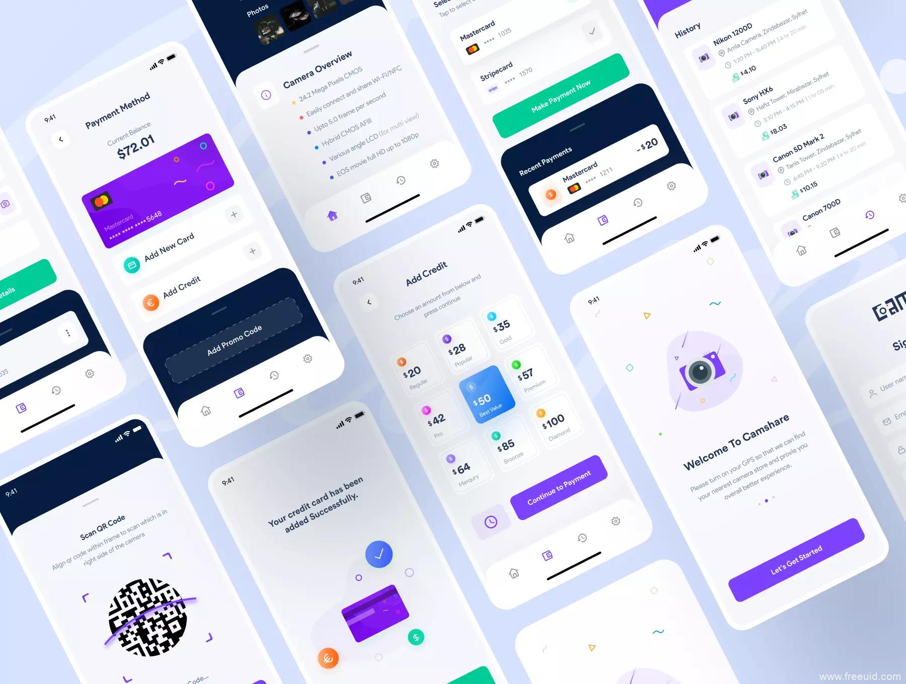 二手市场app UI资源下载,租赁市场app UI源文件下载,二手租赁app UI素材figma源文件下载