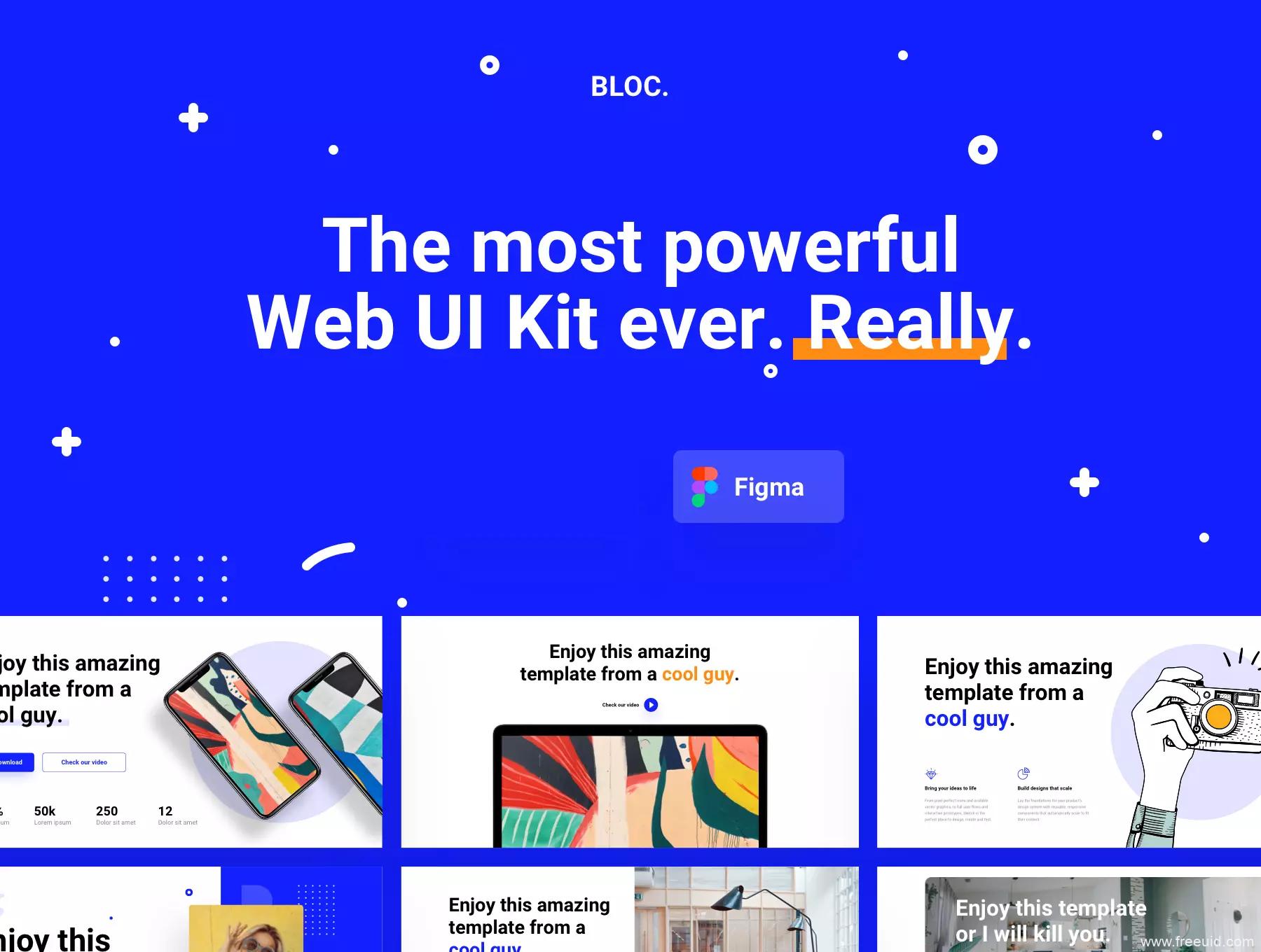 多用途网页设计web UI模板,作品集排版UI源文件下载,多风格web UI资源figma源文件下载