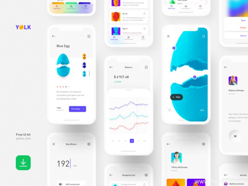 一款简约风格区块链app UI源文件下载,社交app UI资源下载,区块链社交app sketch源文件下载