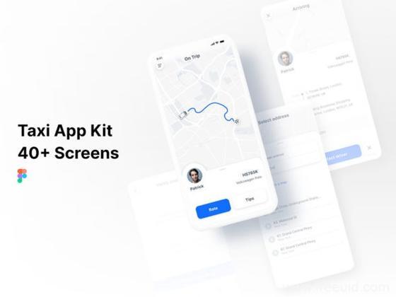 打车app UI资源下载,叫车app UI源文件figma整套下载