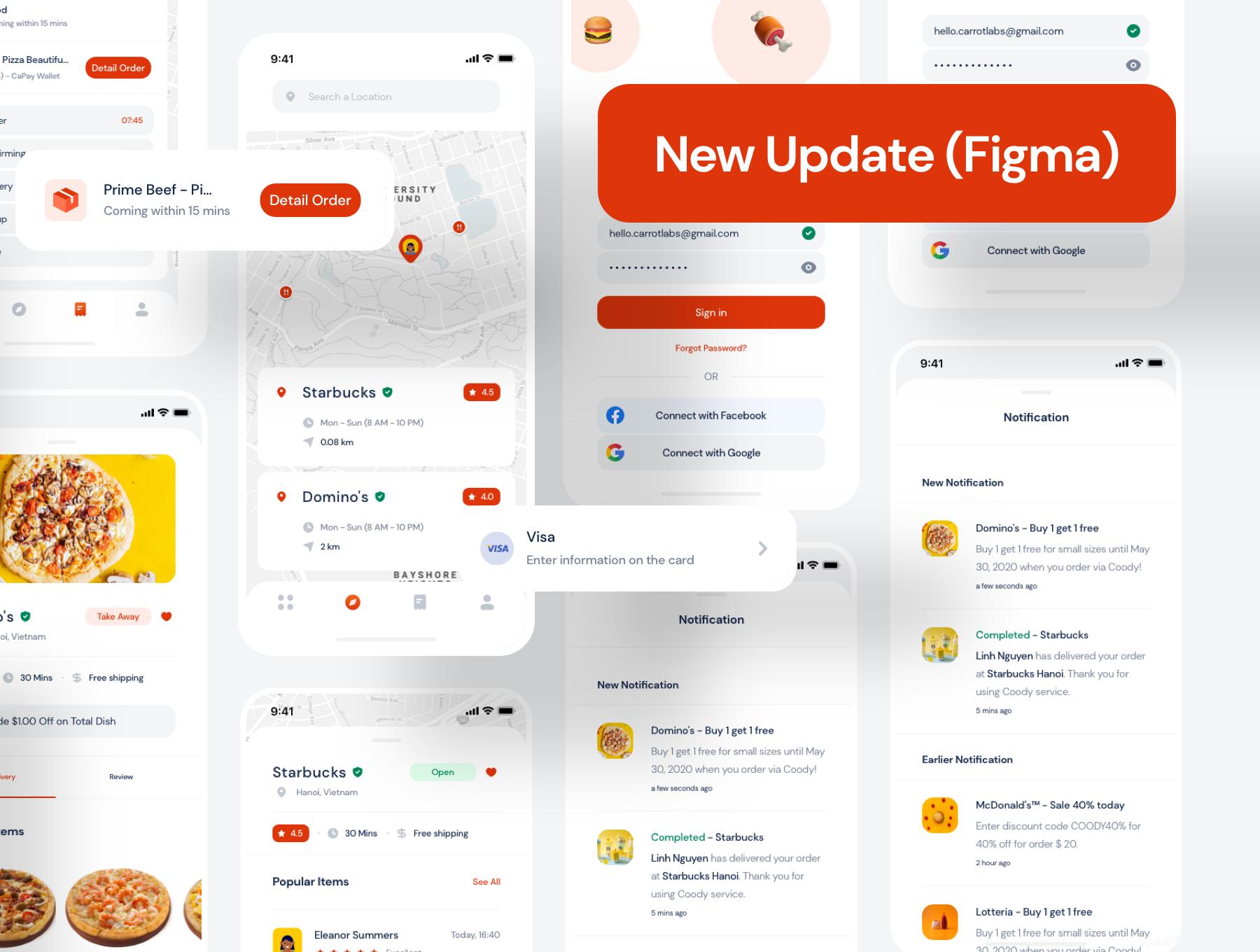 2021最新美食App UI资源下载,美食外卖app UI源文件sketch源文件下载