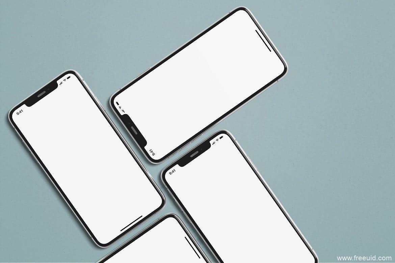 免费iPhone样机psd源文件,iPhone x样机mockup模板下载