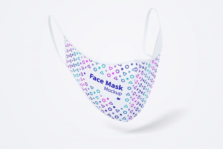 一套口罩样机mockup psd源文件,防护面罩口罩外观设计样机psd源文件