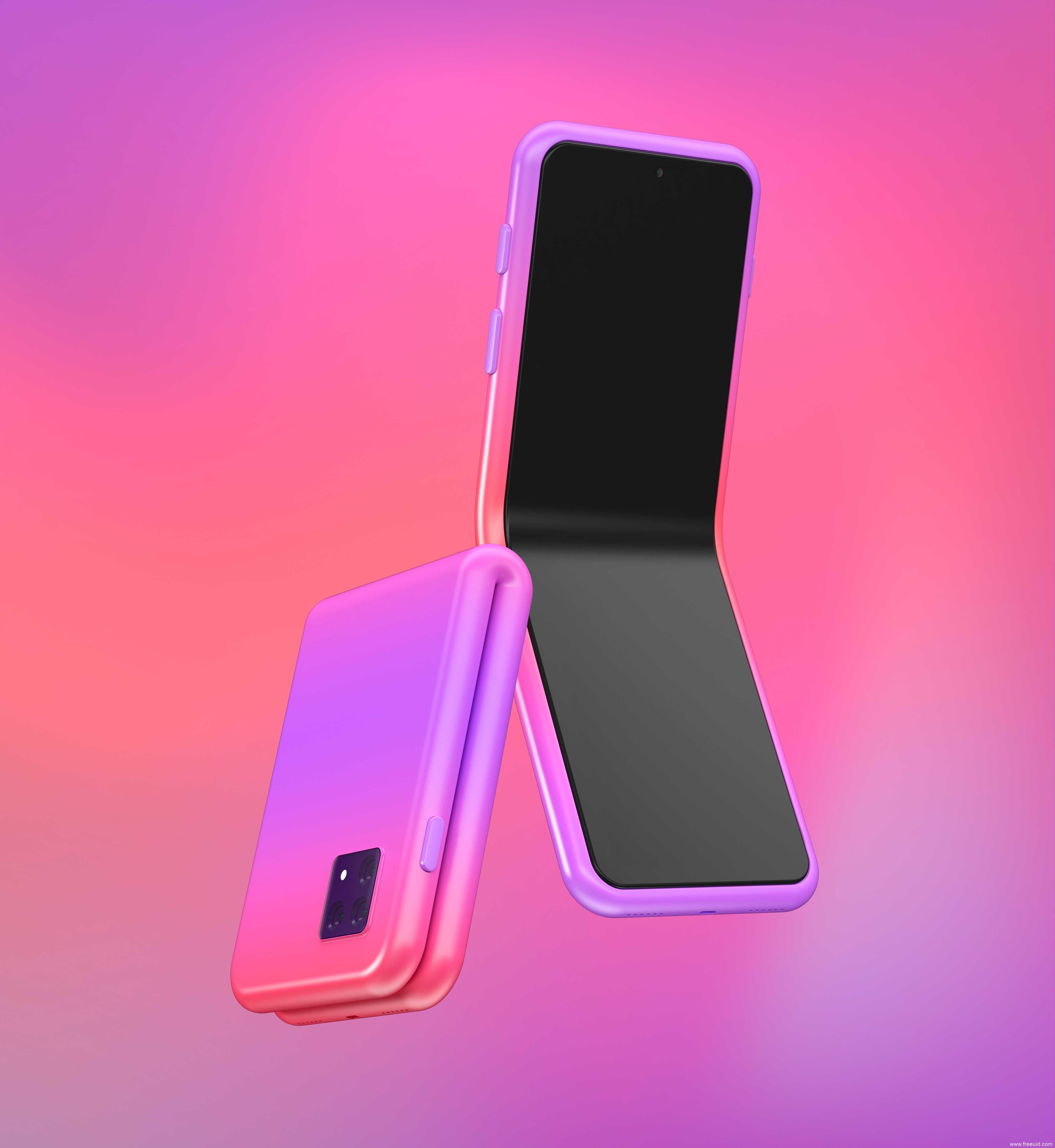 可折叠手机样机mockup模板,折叠屏手机mockup样机psd源文件下载