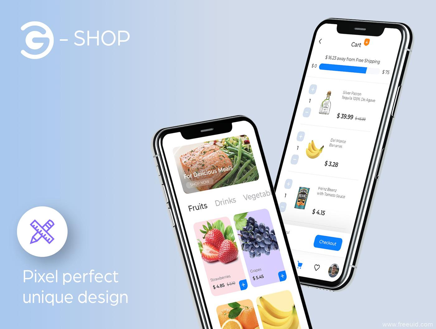 新零售电商app UI ikt套装下载,社区电商UI源文件下载,买菜app,零售电商app UI资源下载sketch、figma源文件