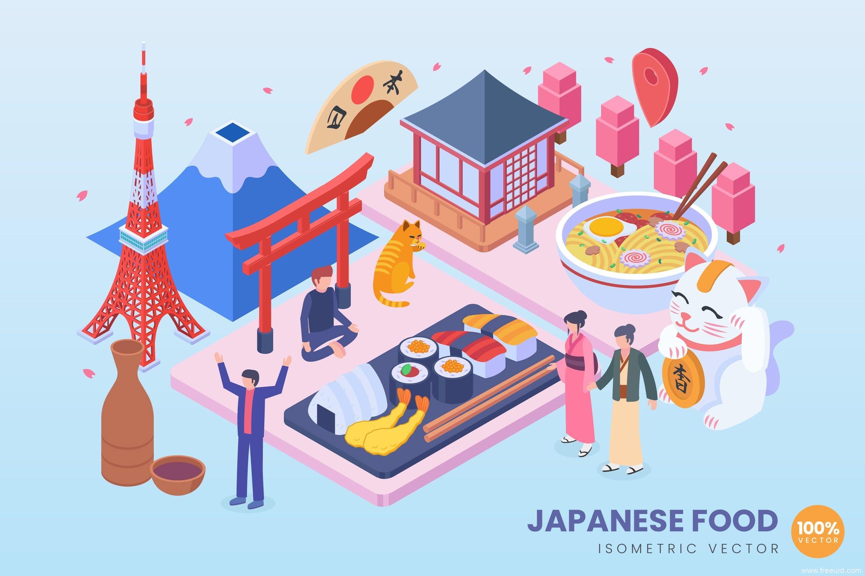 旅游主题2.5D矢量插画ai源文件下载