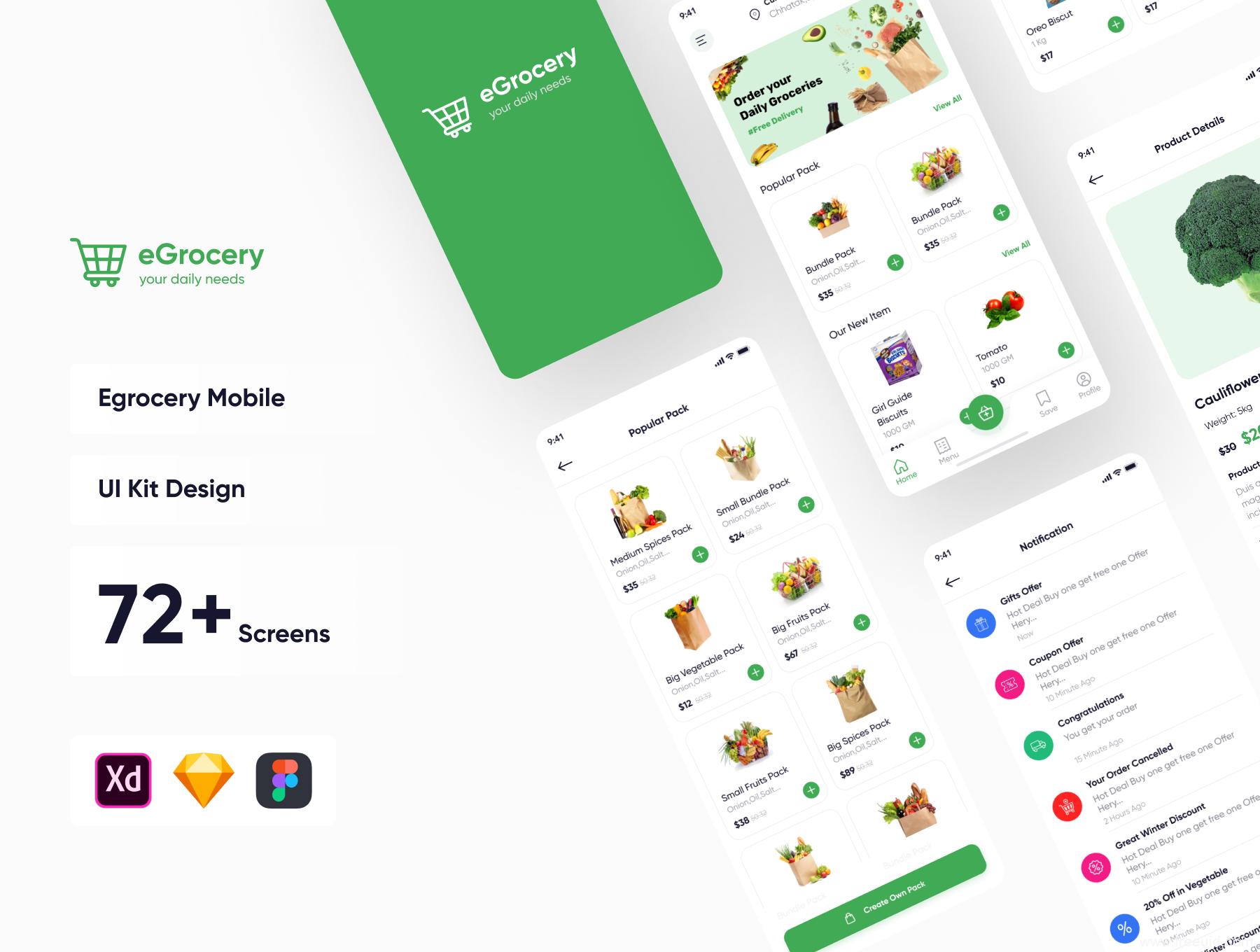 一套买菜app UI源文件下载,社区团购app UI资源下载,蔬菜水果外卖app UI素材sketch源文件xd源文件下载