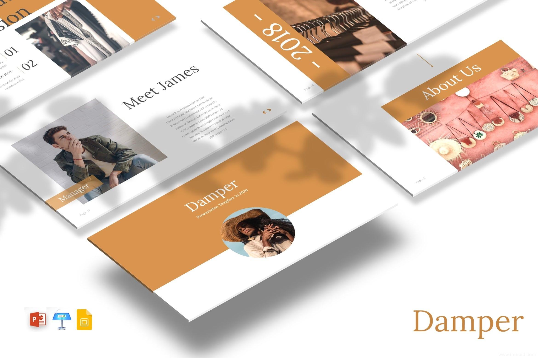 一整套简约小清新风格ppt模版、个人作品集展示包装展示幻灯片下载