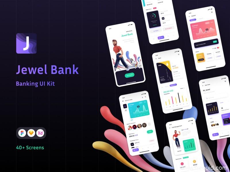 金融理财app UI kit套装,金融app UI源文件下载,银行金融app ui .xd .fig .sketch素材下载