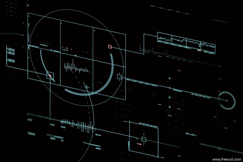 未来科幻主义HUD用户界面背景图片下载
