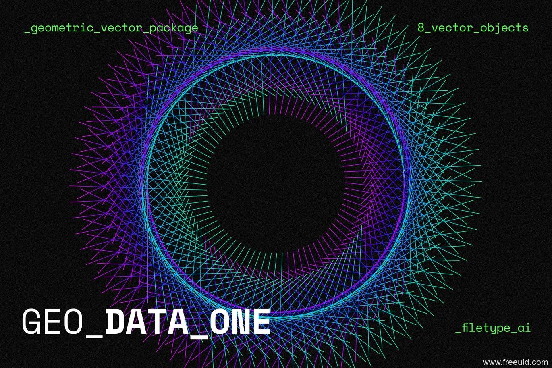 色彩绚丽的立体抽象几何网状图形背景插图