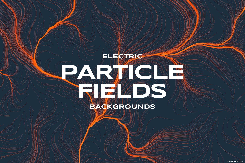 抽象闪电粒子场背景图素材