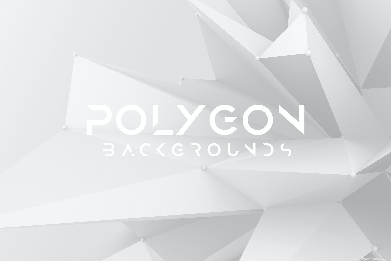 白色锋利的晶体多边形背景图素材包